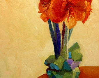 Dancing in the Light Original Still Life Oil Painting on Canvas