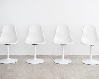 Set of 4 Mid Century Tulip Dining Chairs
