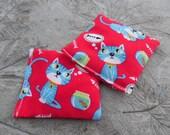 "Organic Catnip Pillows Squares Kick Toys ""Blue Cat Dreams"""