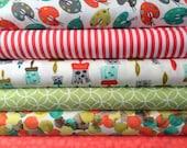 Fat Quarter Fabric bundle for quilt or craft Michael Miller Painting bundle 6 Fat Quarters