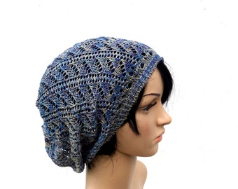 Hat, Knitted cotton beanie, knit summer beanie, lace women hat, knitting accessories, lace cap, knit summer slouchy,  , sun hat, baggy hat