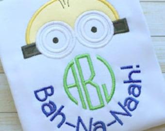 Minions - Disney Monogram Shirt - Girl's or Boy's shirt - Disney Vacation Shirt - Minion's birthday party shirt