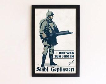 WW1 Styled Gunner Print - 11 x 17