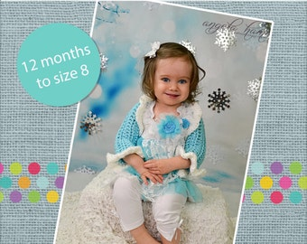 Greta's Ruffle Shrug Crochet PDF Pattern Baby, Toddler, Child