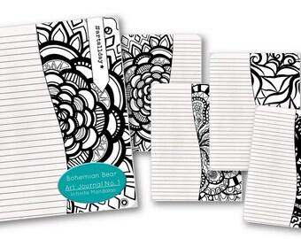 Zentangle Coloring Book | Art Journal No 1. Infinite Mandalas
