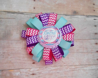 Limited Edition loopy flower hair bow