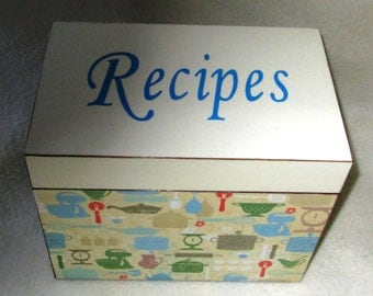 Recipe Box - Wooden Recipe Box - Wood - Handcrafted Wood Box - Kitchenware - Wood Recipe Box - Trinket Box - Keepsake Box - Shower Gift