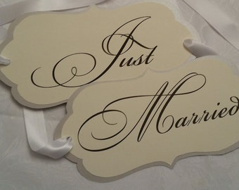 Just Married Wedding Signs (April Collection)