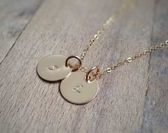 Gold Initial Necklace - Custom Initial - Personalized Girlfriend Gift - Custom Necklace - Wife Gift - Grandma Gift Monogram - Child Initial