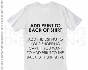 Add Text to the Back of Your Shirt