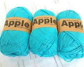 turquoise blue  Bamboo yarn,Each skein: 100 gr, knitting yarn