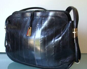 Vintage Eel Skin Shoulder Bag Purse