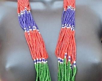 WINTER SALE Vintage Afghanistan Kuchi Beaded Necklace Hippie Boho Gypsy Tribal Belly Dance Uber Kuchi®