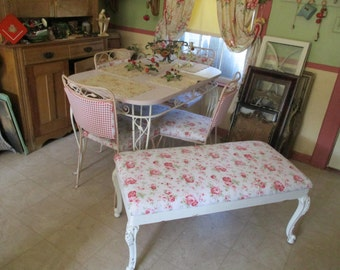 SOLD Antique Coffee Table Now Bench Cath Kidston Roses Shabby Chic Furniture