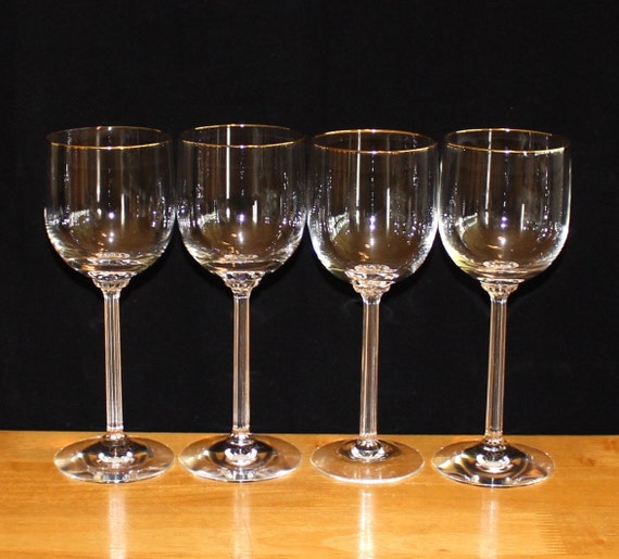 Gorgeous set of 4 vintage lenox mckinley gold rim wine - Lenox gold rimmed wine glasses ...