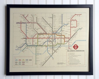 London Underground Map - 1978