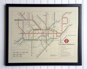 London Underground Map - 1978