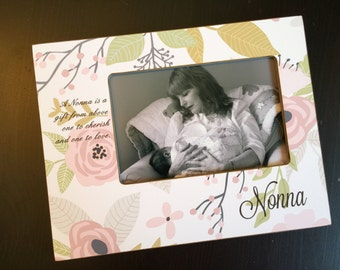 Grandmother Gift Personalized Grandma Gift Grandparents Gift For Nana Gift Nonna Gift Personalized Wood 4x6 Picture Frame 4x6 Keepsake Frame