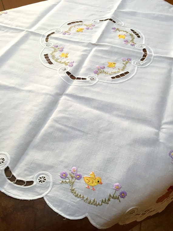 Retro Cotton Easter Tablecloth Germany