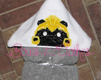 Bumble 1 Hooded Towel In the hoop design digital instant download