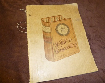 Notebook Vintage Handwritten School Notes About Grammar