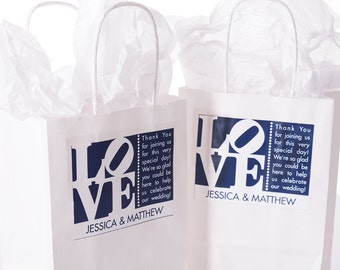 Wedding Welcome Bags - 25 Out of Town Welcome Bags - Hotel Wedding Bags - Personalized Wedding Favor Bags