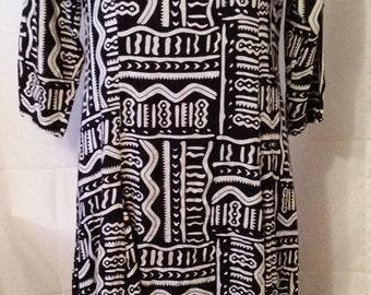 "LABOR DAY SALE Nice 80s Vintage Ethnic Tribal Boho Hipster Folk-Maxi Dress-Passports-Size 8-Medium-40"" Bust-Resort Casual Festival"