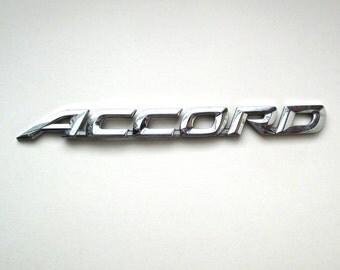 Chrome Honda ACCORD Emblem, car nameplate, custom car, automobile
