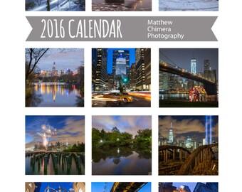 2016 Desk Calendar - New York City Calendar - Christmas Gift Idea - 5 by 7 Calendar - Photography Calendar