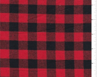 Red Black Buffalo Check Crib Skirt