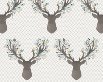 Nursing Pillow Cover - Aspen Stag and Minky Boppy Cover - Boy, Stag, Buck , Deer