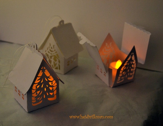 Paper Cut House Christmas Decoration Cutting