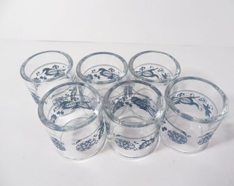 6 Pyrex Compatibles Napkin Rings Old Town Blue