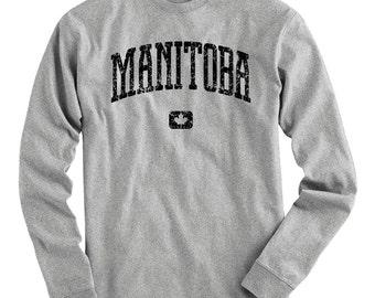 LS Manitoba Canada Tee - Long Sleeve T-shirt - Men S M L XL 2x 3x 4x - Gift, Manitoba Shirt, Winnipeg, Brandon, Steinbach Portage La Prairie