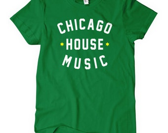 Women's Chicago House Music T-shirt - S M L XL 2x - Ladies' Chicago Tee, DJ, Dance - 4 Colors