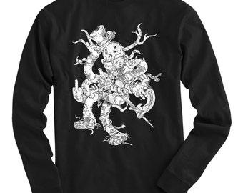 LS The Shambler Tee - Long Sleeve T-shirt - Men S M L XL 2x 3x 4x - Hobo Shirt, Woodsman, Fantasy, Railroad - 3 Colors