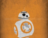 Star Wars The Force Awakens - The Companion - BB-8 Art Print