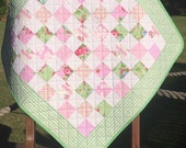 "A 29"" X 29"" Postage Stamp Quilt In The Line Called Grand Revival By Tanya Whelan For Free Spirit"
