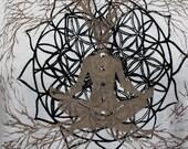 Tree of Life Meditation shirt / Mens / Unisex tee - Bamboo and organic Cotton tee / yoga clothes