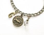 Aries Zodiac Jewelry - Aries Birthstone - Initial Charm Jewelry - April Gift - Aries Sign Gift - Astrology Jewelry