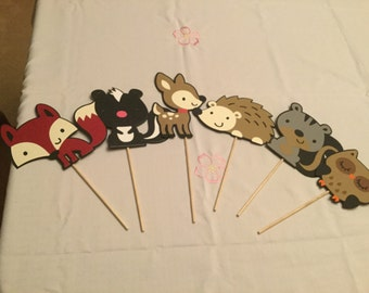 Cute Woodland Animal Party Centerpiece