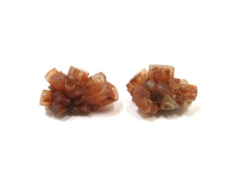 Aragonite Star Crystals 2 Mineral Specimens 25mm and 26mm Natural Rough Stones (Lot 9952) SALE