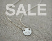 SALE Sterling Lotus Necklace