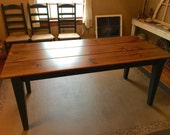 6 Foot Farm Table, Rustic Dining Table, Aged Kitchen Table, Farmhouse Style Table