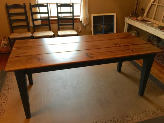 6 foot farm table rustic dining table aged kitchen table