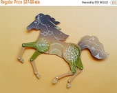 SALE Night horse articulated paper doll paper puppet unique unusual Christmas gift birthday present whimsical paper decoration by dubrovskay