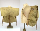 1920s Marshall Wells Hardware Co Duluth Pack Sack Canvas and Leather Forestry Canoe Pack