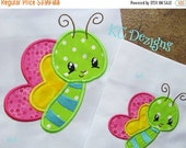 50% OFF SALE Baby Bug Butterfly Machine Applique Embroidery Design - 4x4, 5x7 & 6x8