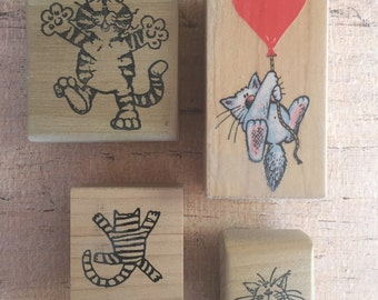 Cat Rubber Stamps
