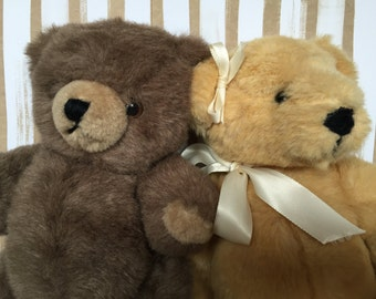 Two Vintage Jointed Teddy Bears